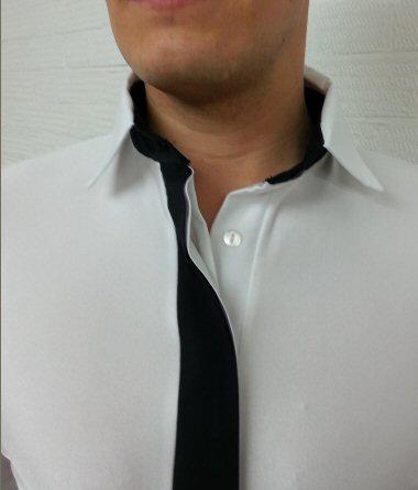 488d1c7efdc5 Mens shirt with Fake tie | ZEM DancesportUK